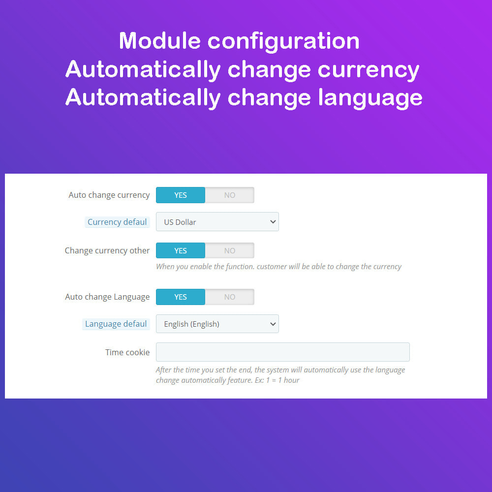 module - International & Localization - Auto Change Language, Currency - Format currency - 1