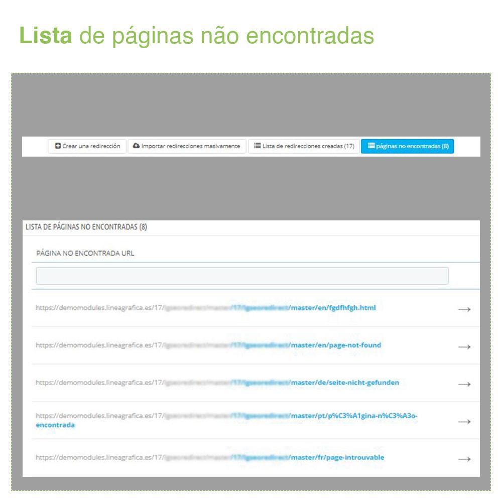 module - Gestão de URL & Redirecionamento - 301, 302, 303 URL Redireciona e 404 – SEO - 6