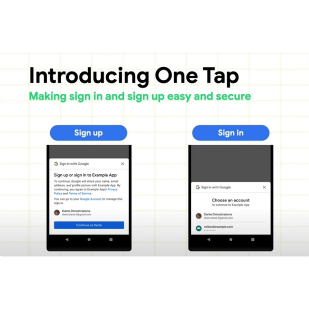 module - Social Login & Connect - Google One Tap sign-in and sign-up - 1