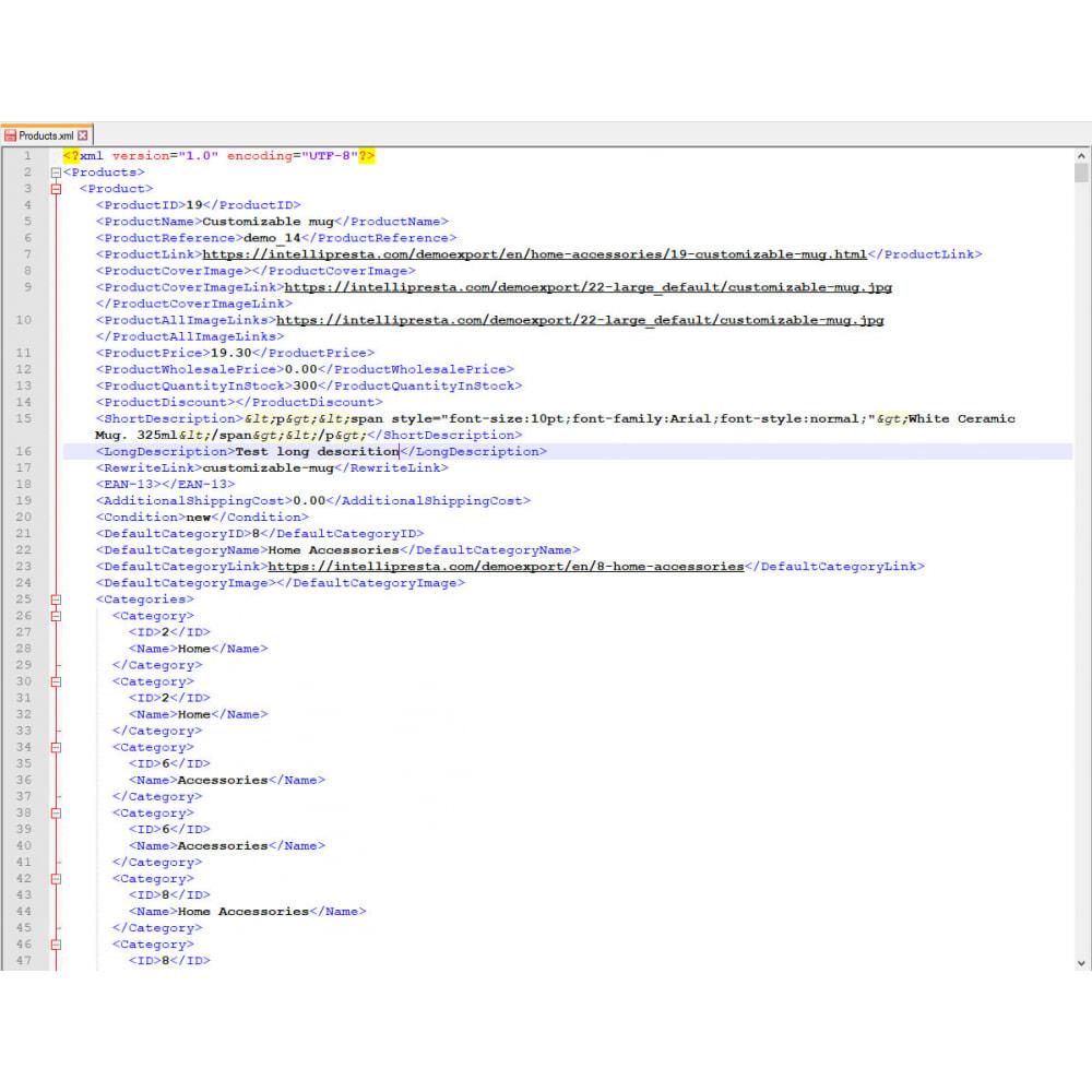 module - Import & Export de données - Exportation de Produits (Excel, CSV, XML, Email, FTP) - 9