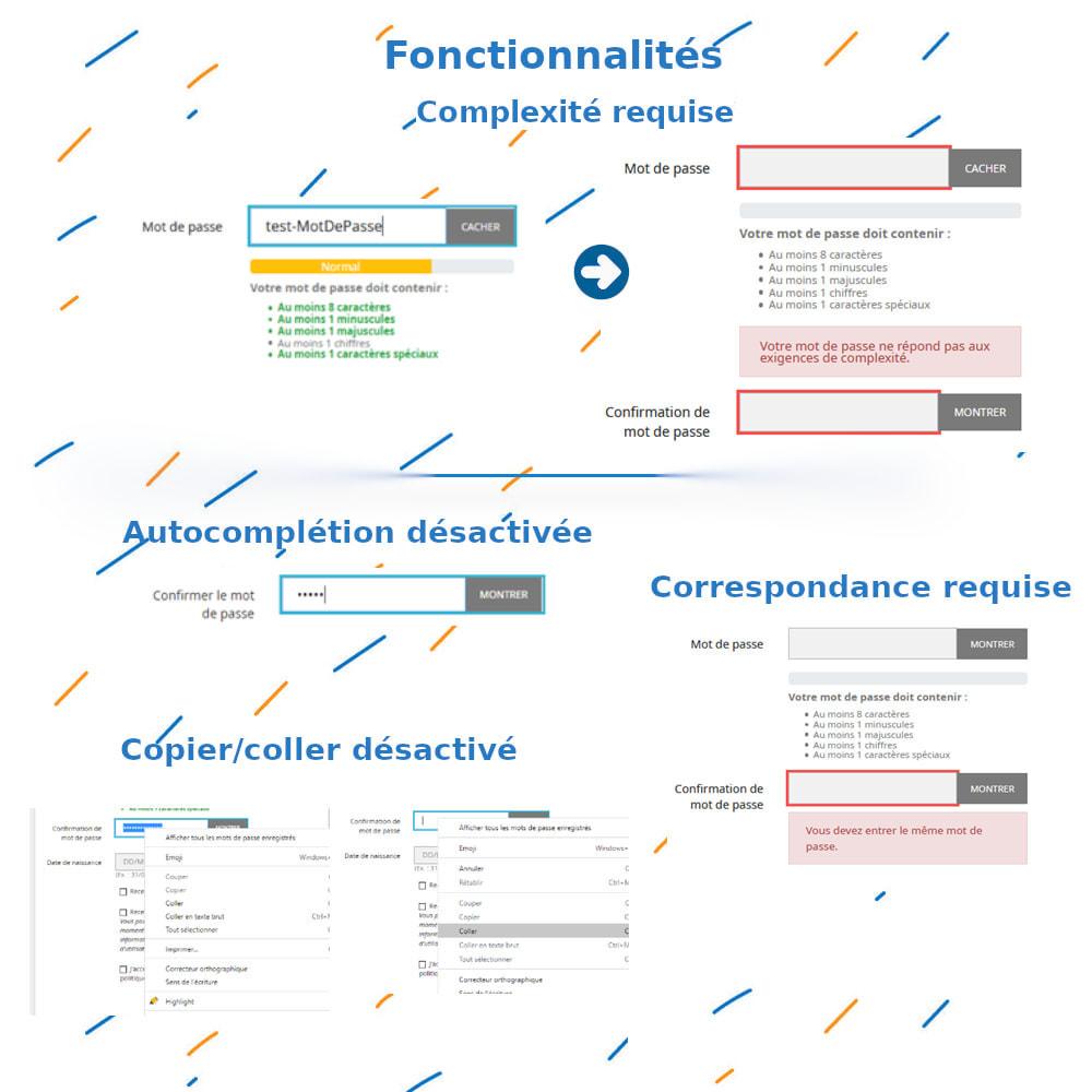 module - Inscription & Processus de commande - Confirmation Mot de passe et Complexité - 3