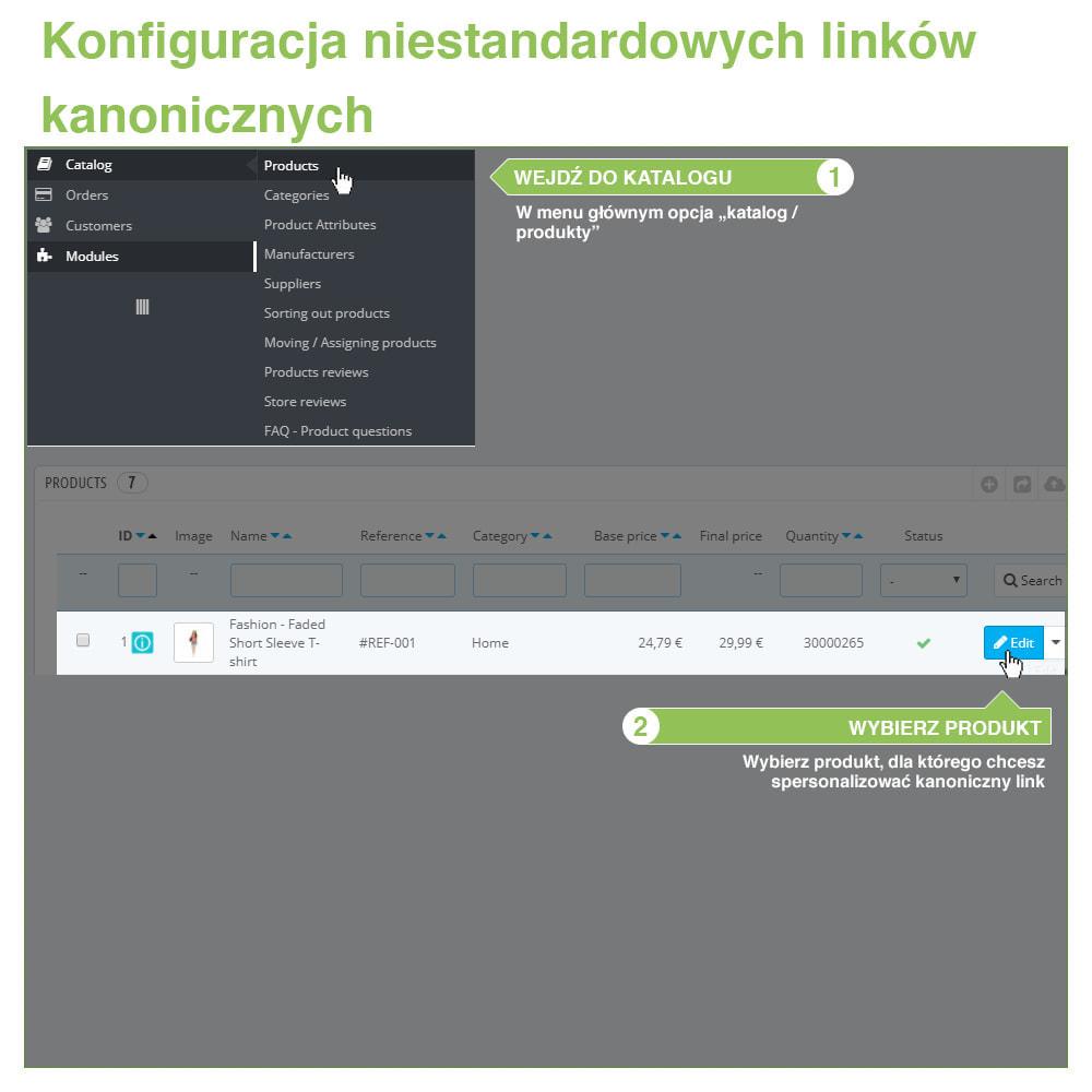 module - URL & Przekierowania - SEO Canonical URL: Linki Kanoniczne dla Duplikatów - 10