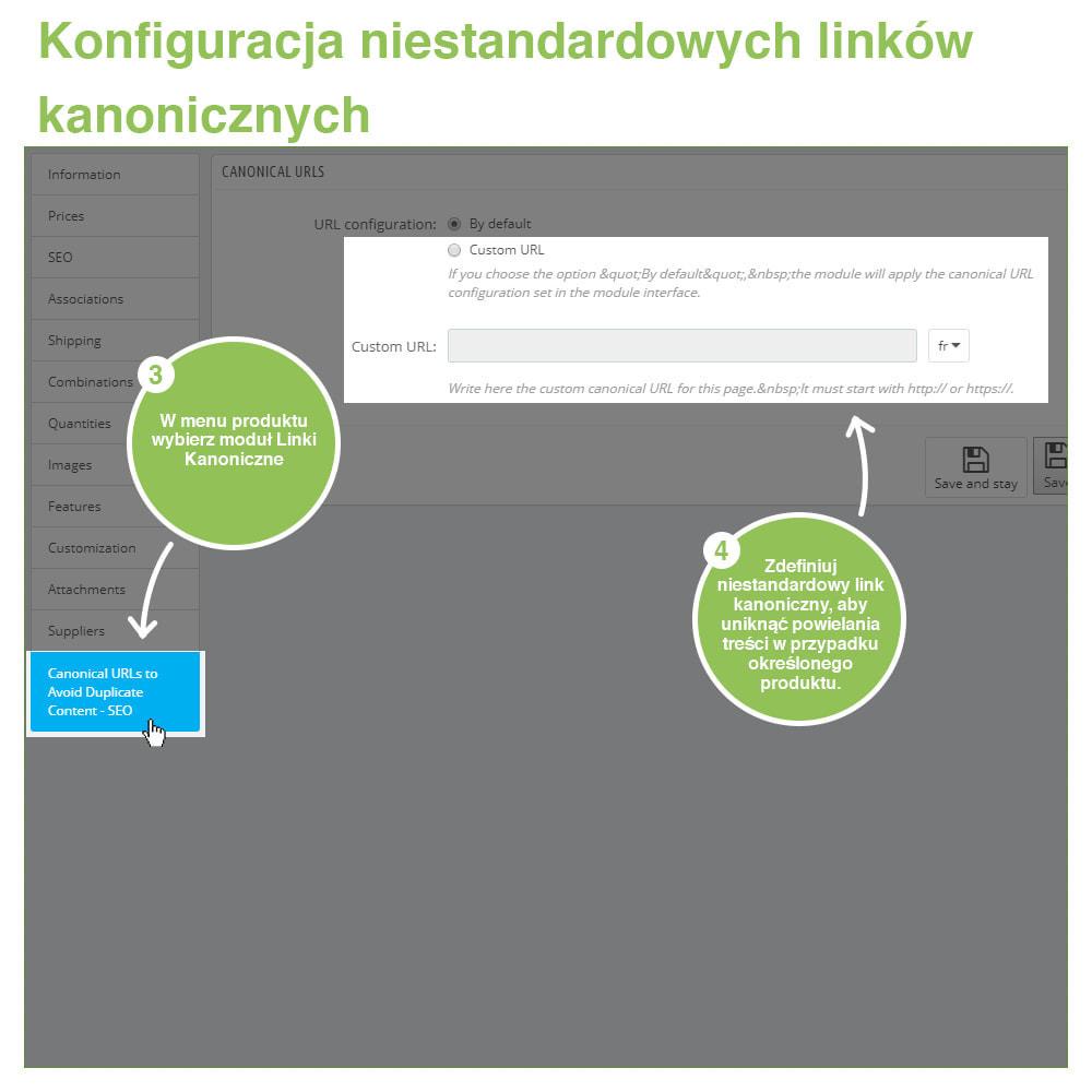 module - URL & Przekierowania - SEO Canonical URL: Linki Kanoniczne dla Duplikatów - 11