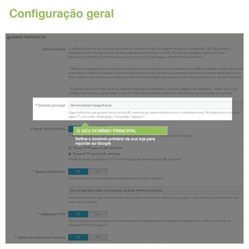 module - Gestão de URL & Redirecionamento - URLs canônicos para evitar conteúdo duplicado - 2