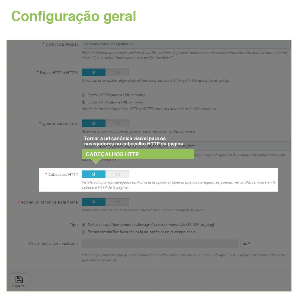 module - Gestão de URL & Redirecionamento - URLs canônicos para evitar conteúdo duplicado - 5