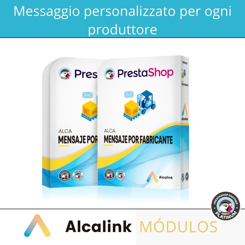 module - Visualizzazione Prodotti - Messaggio personalizzato per ogni produttore - 1