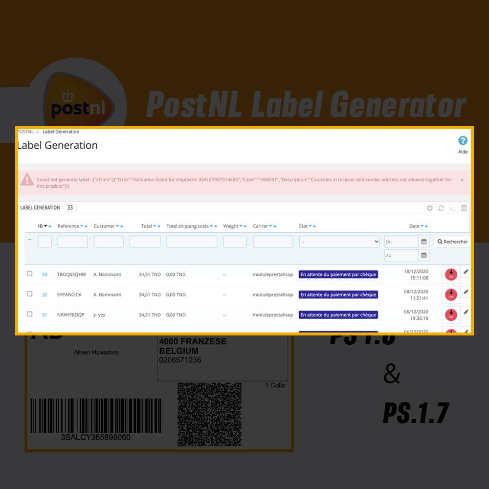 module - Przygotowanie & Wysyłka - PostNL Label Generator - 2