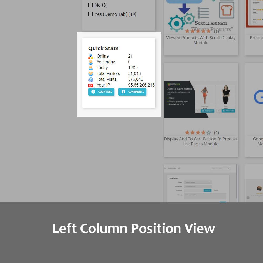 module - Personalización de la página - Visitor Statistics on Homepage (Front Office) - 5