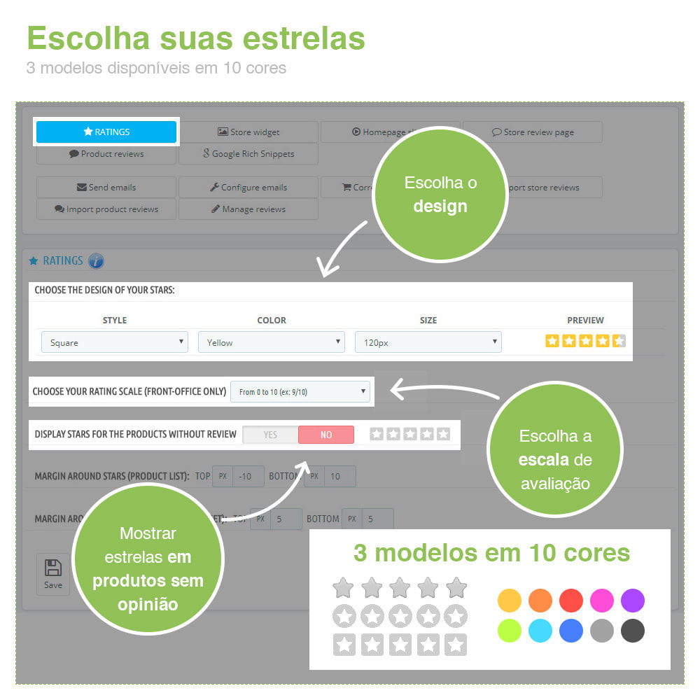 module - Opiniões de clientes - Opiniões de loja + produto  Opiniões + Snippets - 2