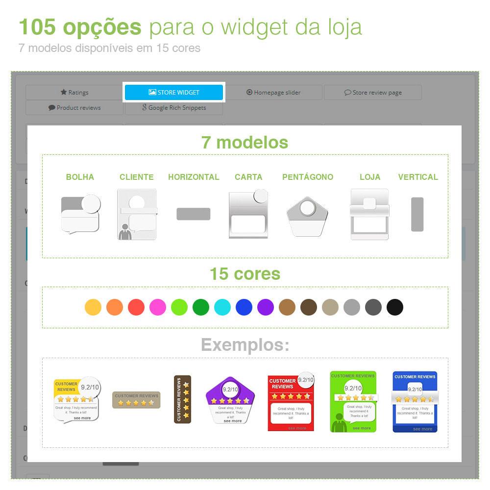 module - Opiniões de clientes - Opiniões de loja + produto  Opiniões + Snippets - 4
