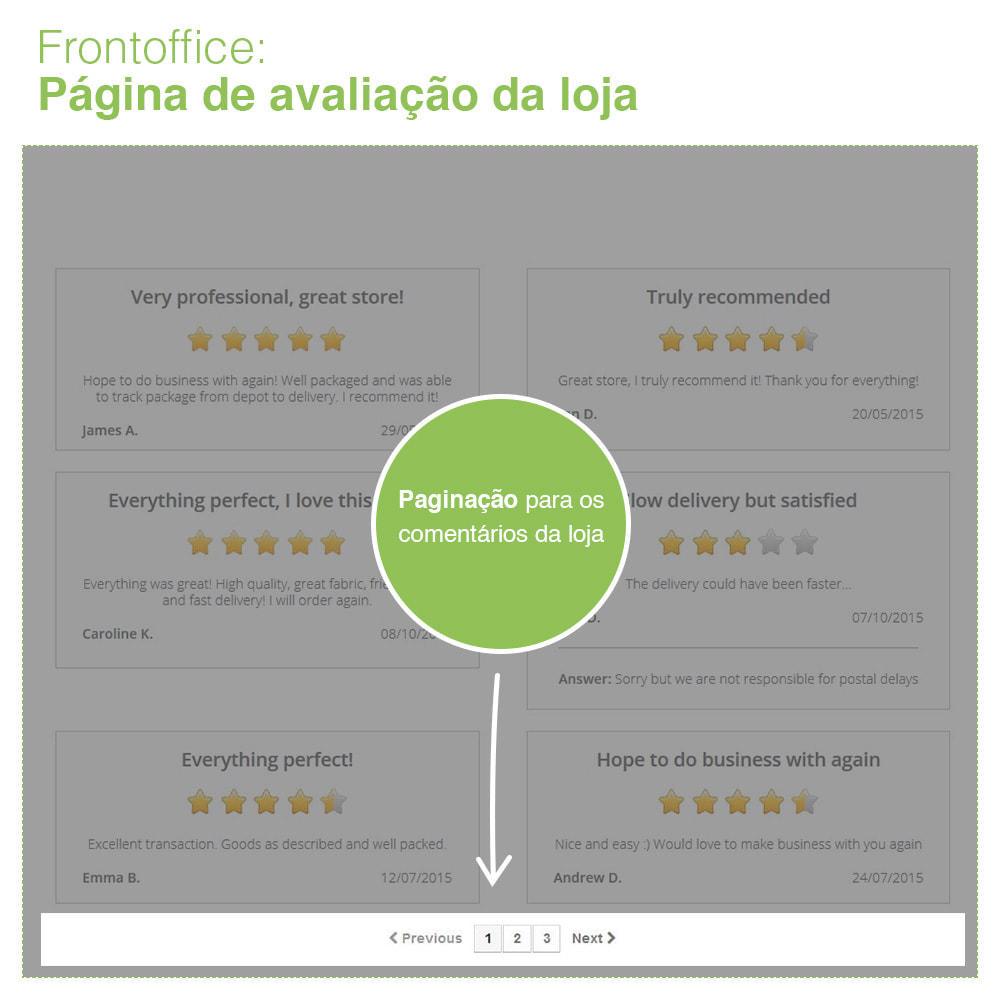 module - Opiniões de clientes - Opiniões de loja + produto  Opiniões + Snippets - 10