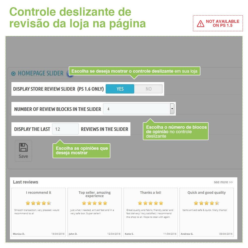 module - Opiniões de clientes - Opiniões de loja + produto  Opiniões + Snippets - 11