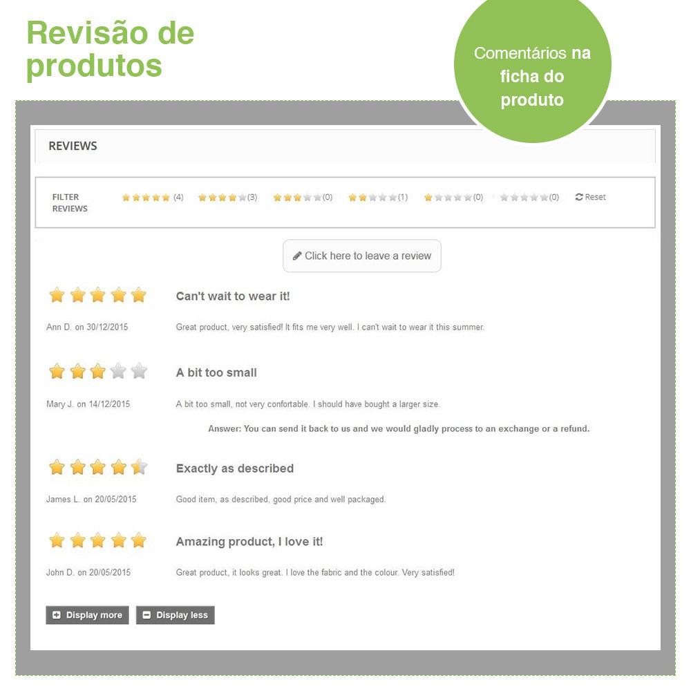 module - Opiniões de clientes - Opiniões de loja + produto  Opiniões + Snippets - 19