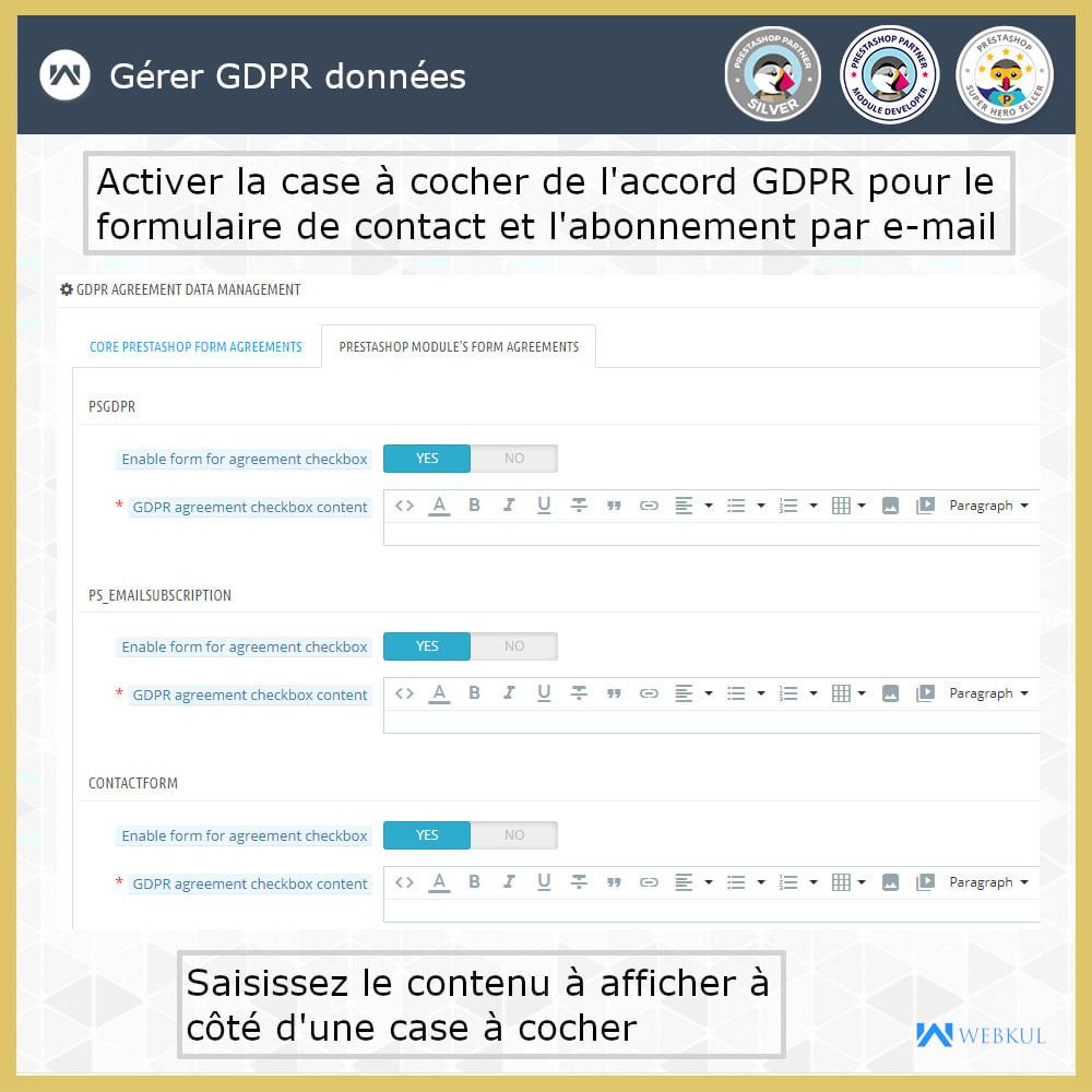 module - Législation - Conformité GDPR - 14