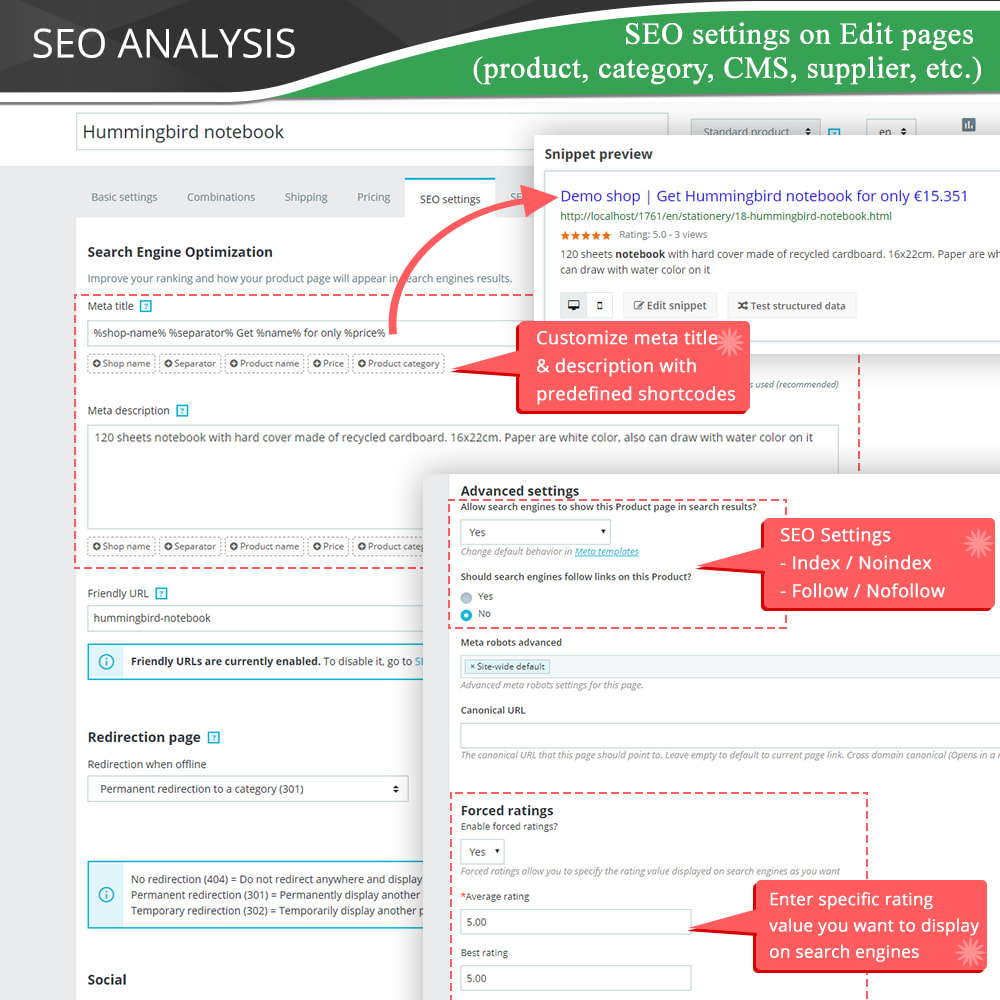 module - SEO (Referenciamento natural) - SEO Audit - Best SEO practices 2020 - Incredibly good - 13