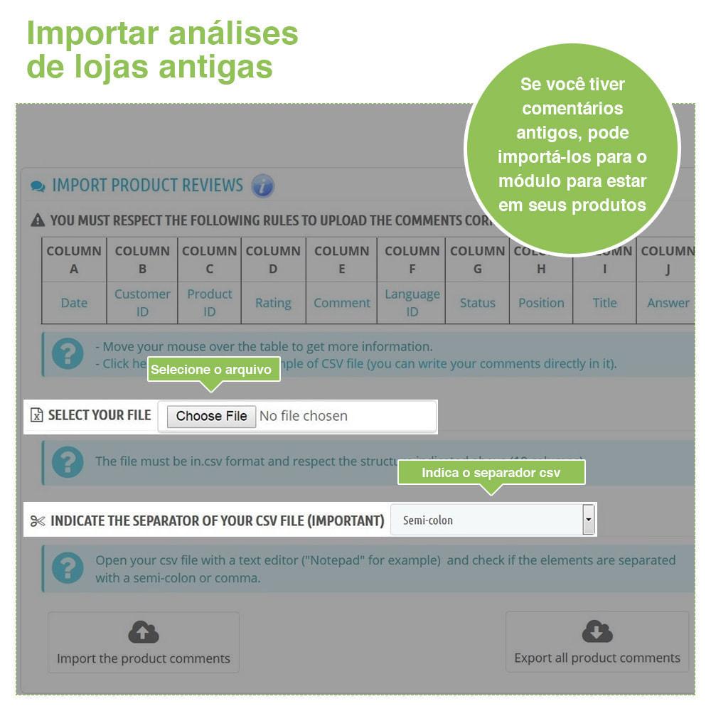 module - Opiniões de clientes - Opiniões de loja + produto  Opiniões + Snippets - 38