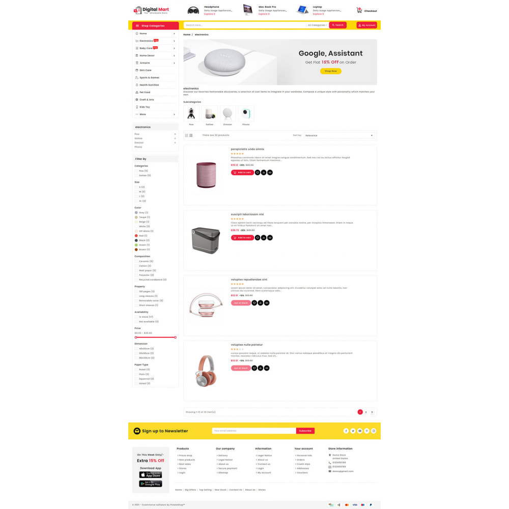 theme - Electronique & High Tech - Digital Mart - Multi-purpose Mega Store - 14