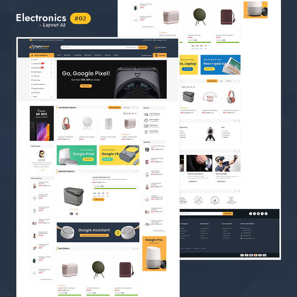 theme - Elektronik & High Tech - Digital Mart - Multi-purpose Mega Store - 2