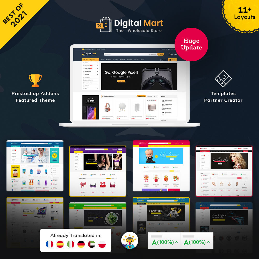 theme - Elektronica & High Tech - Digital Mart - Multi-purpose Mega Store - 1