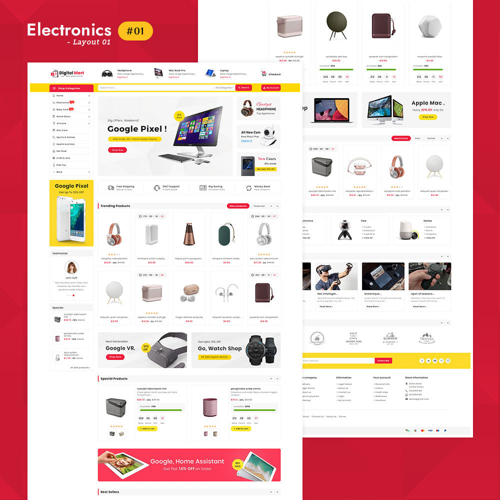 theme - Elektronica & High Tech - Digital Mart - Multi-purpose Mega Store - 2