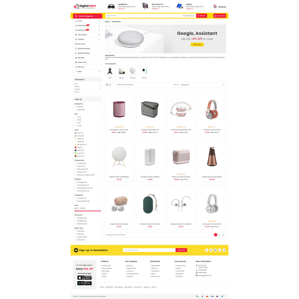 theme - Elektronica & High Tech - Digital Mart - Multi-purpose Mega Store - 13