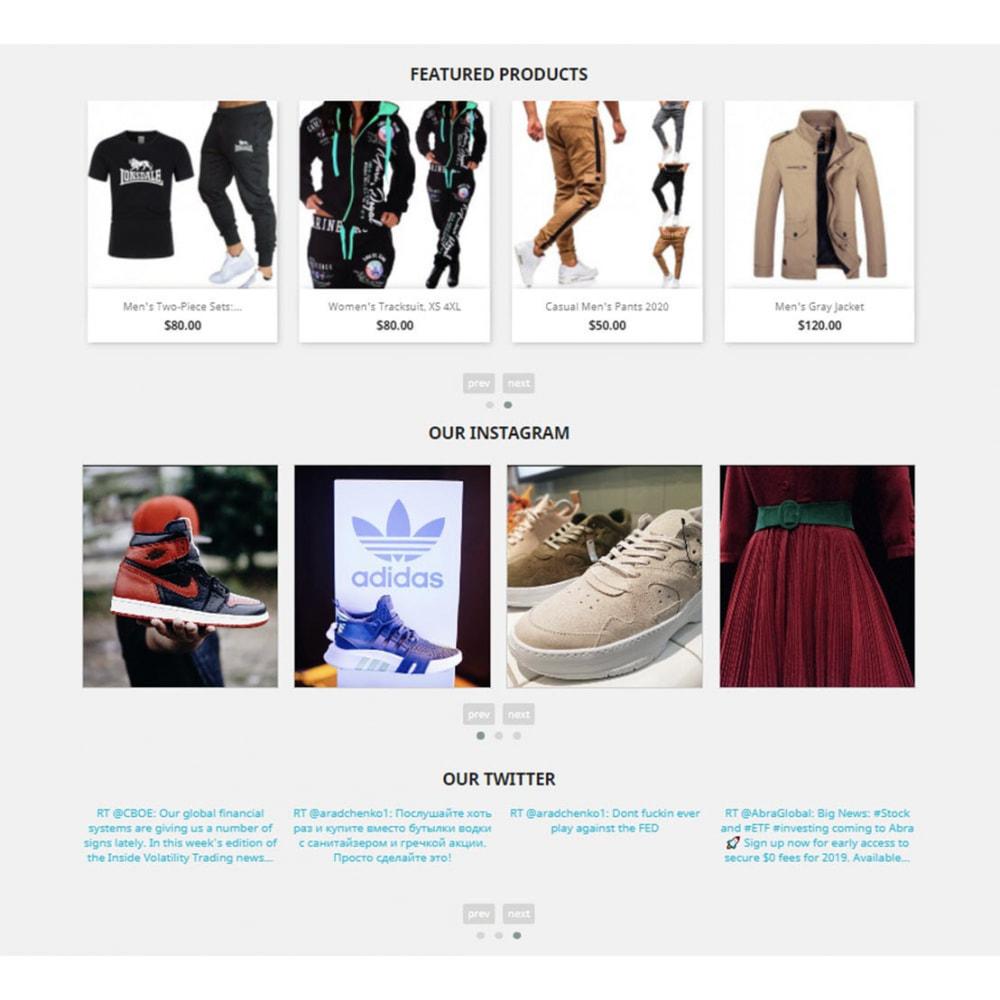 module - Слайдеров (карусельных) и галерей - Carousels Pack - Instagram, Products, Brands, Supplier - 4