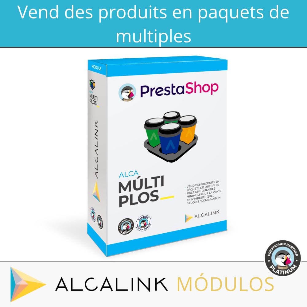 module - Ventes croisées & Packs de produits - Vendre des produits en packs avec une quantité minimale - 1