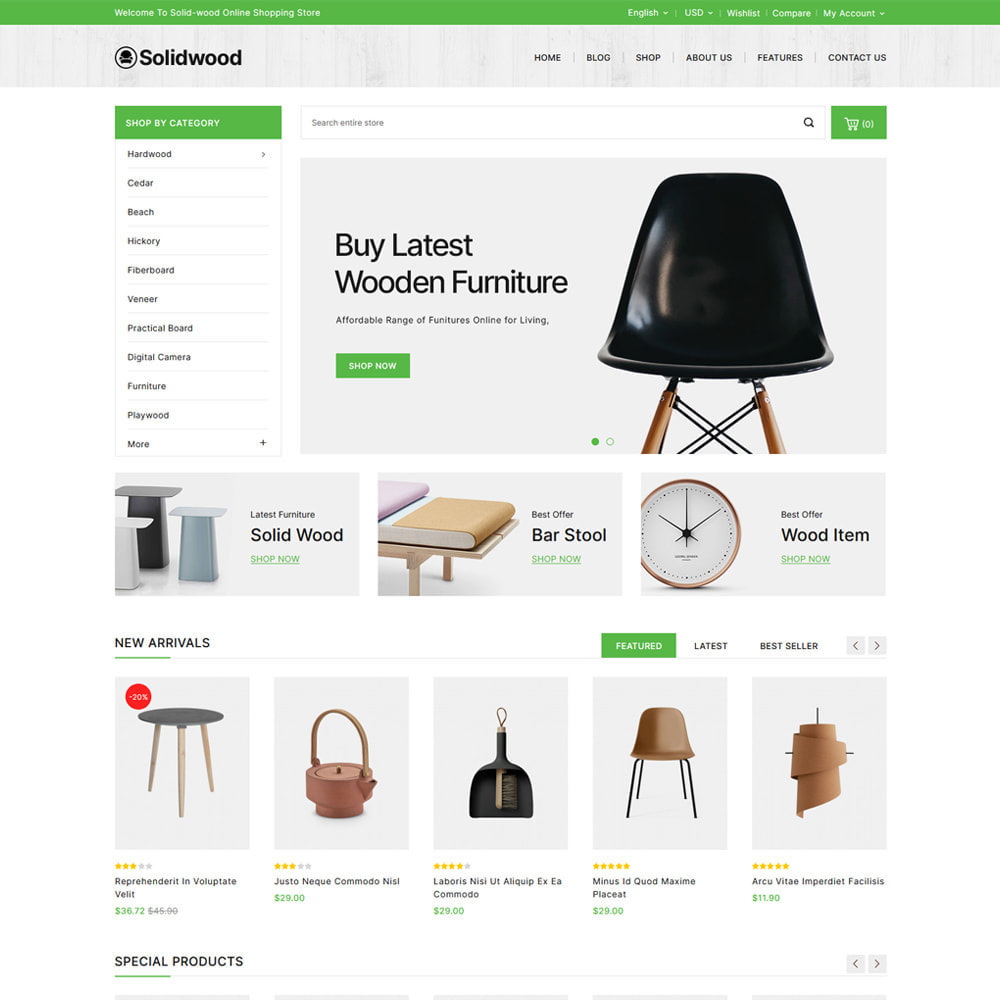 theme - Dom & Ogród - Solid Wood - Online Furniture Store - 2