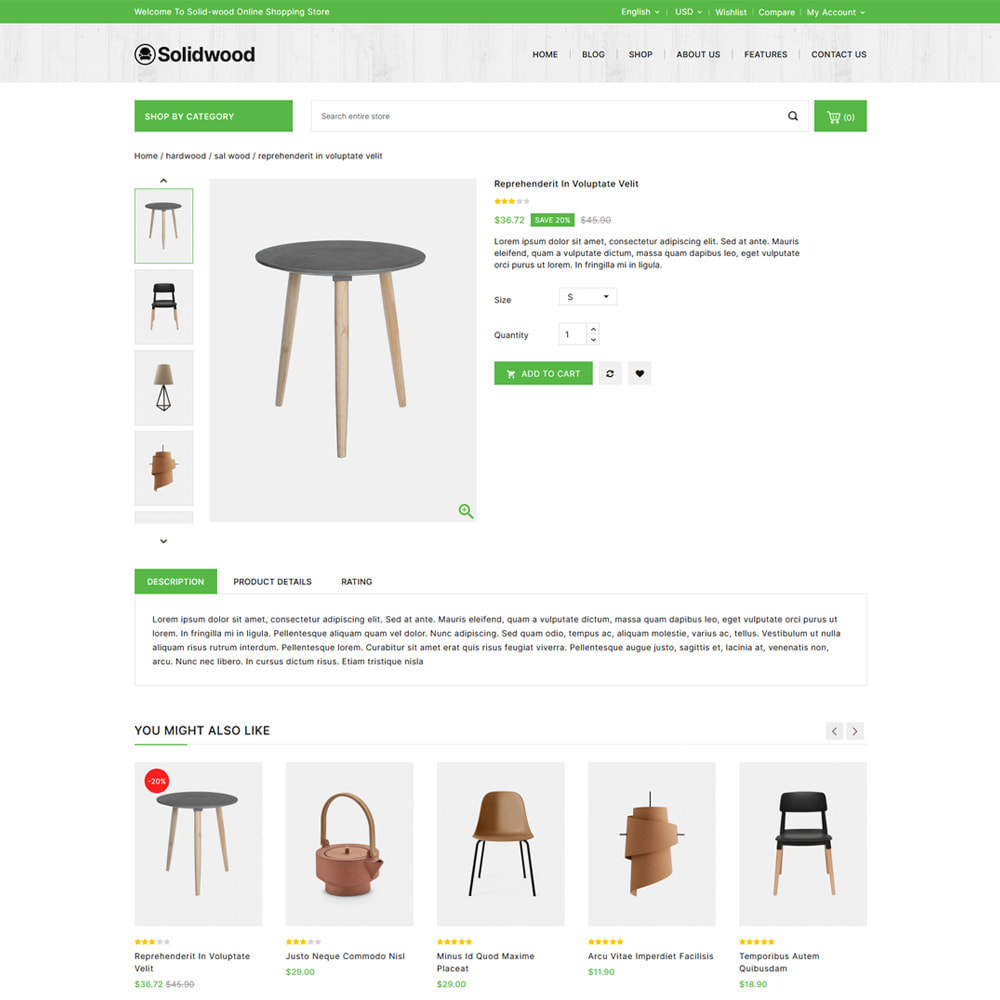 theme - Dom & Ogród - Solid Wood - Online Furniture Store - 4