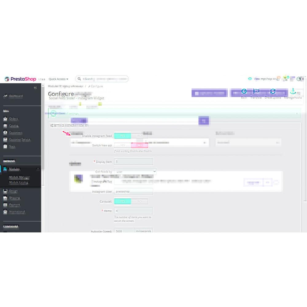 module - Produits sur Facebook & réseaux sociaux - Social Feed Slider - Instagram New API - 1