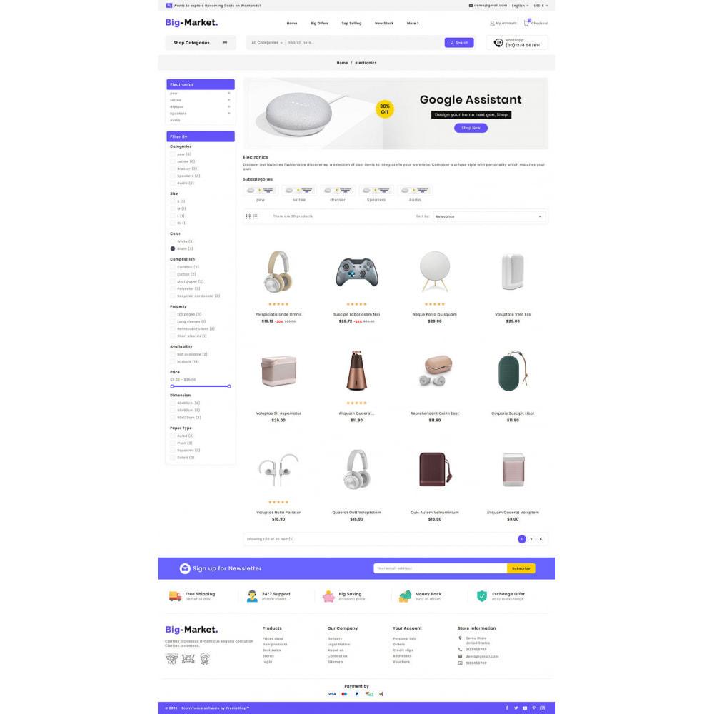 theme - Elettronica & High Tech - Big Market - Multi-purpose Mega Store - 14