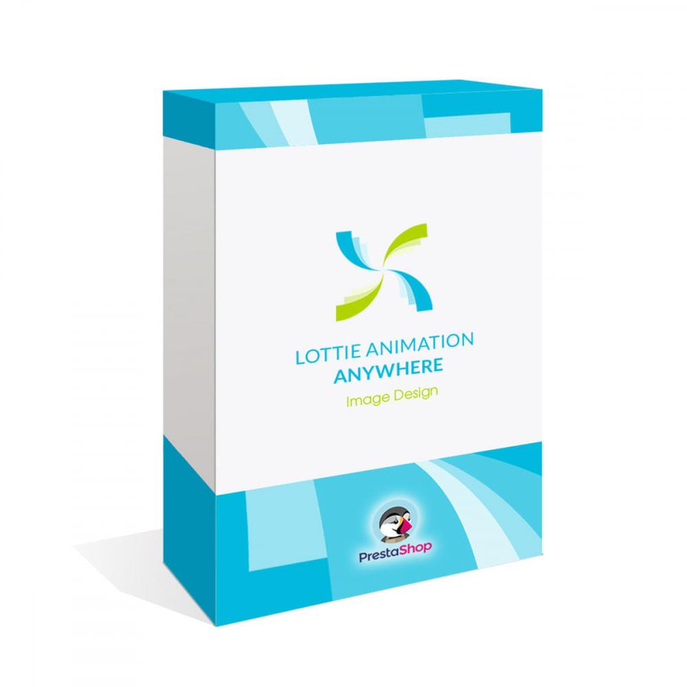 module - Personalisering van pagina's - Add Lottie Animation Anywhere - Image Design - 1