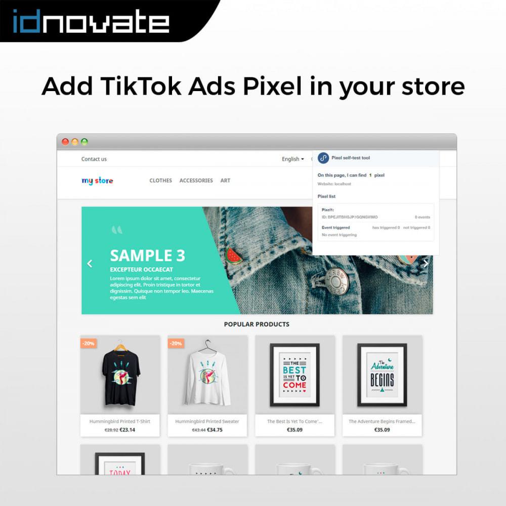module - Widgets réseaux sociaux - TikTok Ads Pixel - 2