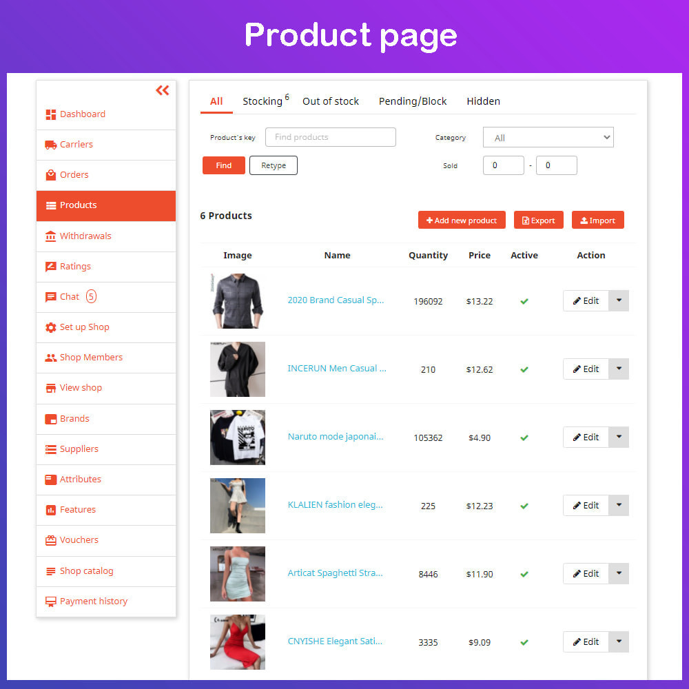 module - Marketplace Creation - Multi Vendor Ecommerce Marketplace - 13