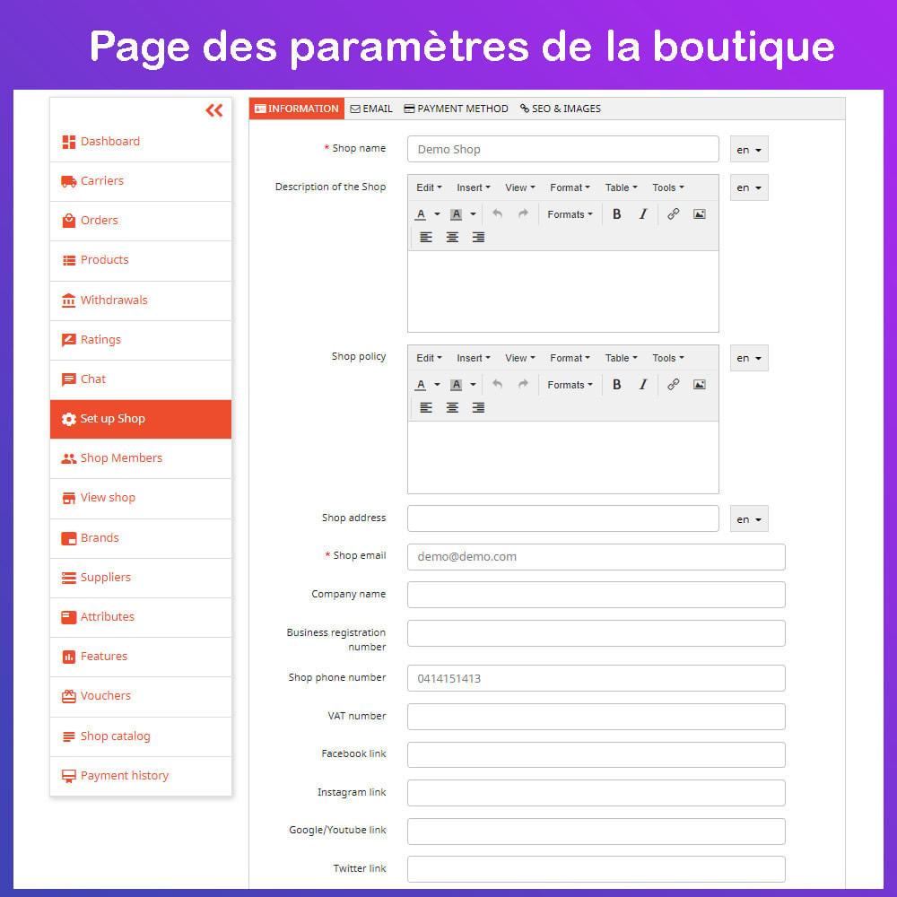 module - Création de Marketplace - Marché du commerce électronique multi-vendeurs - 17