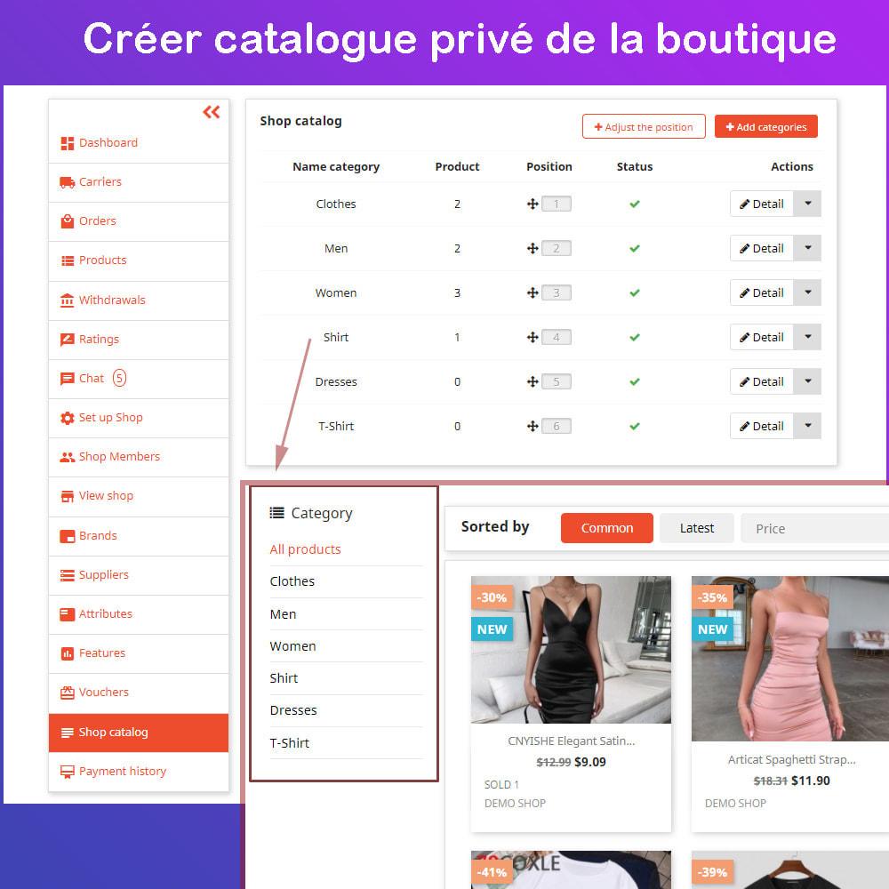module - Création de Marketplace - Marché du commerce électronique multi-vendeurs - 19