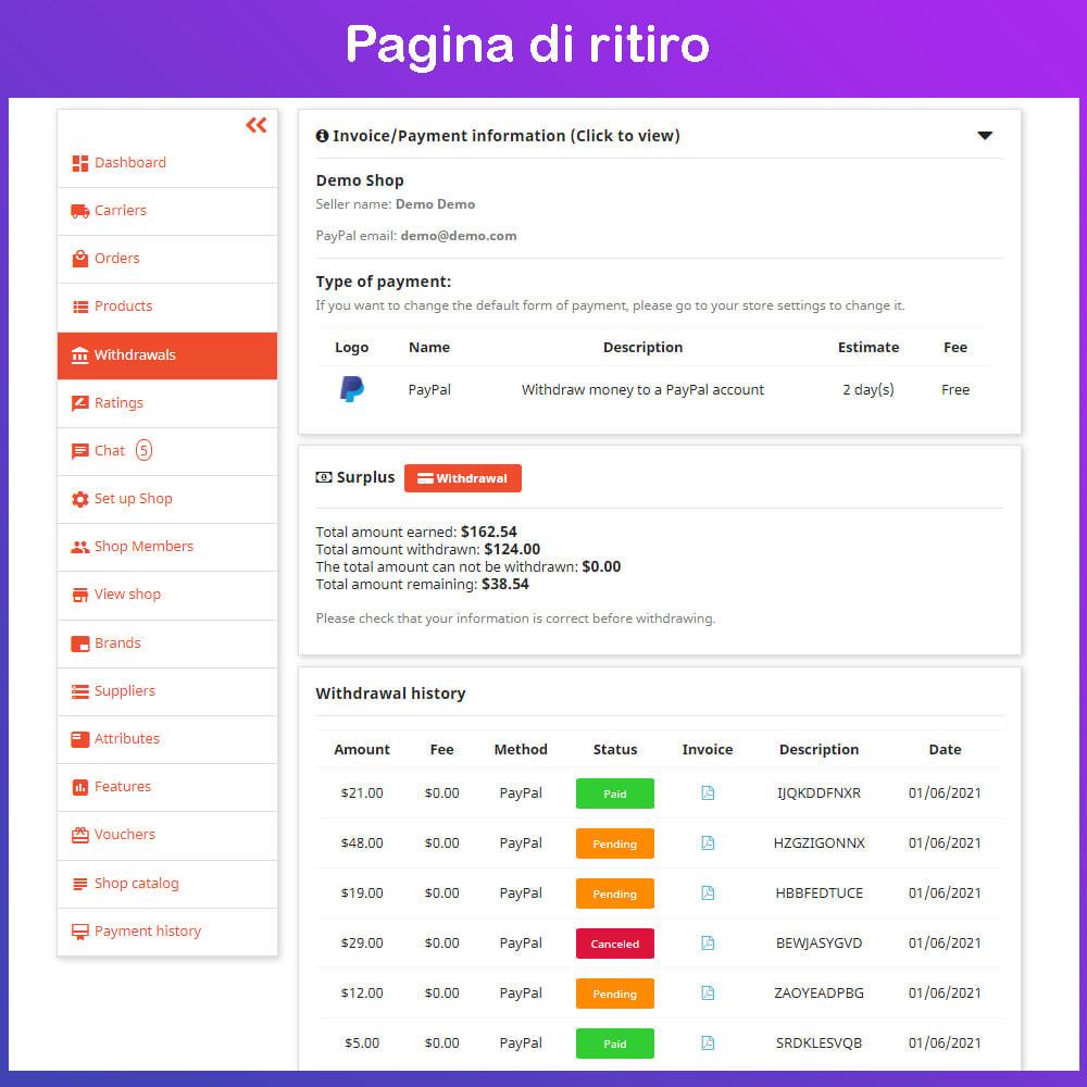 module - Creazione Marketplace - Mercato Ecommerce multifornitore - 14