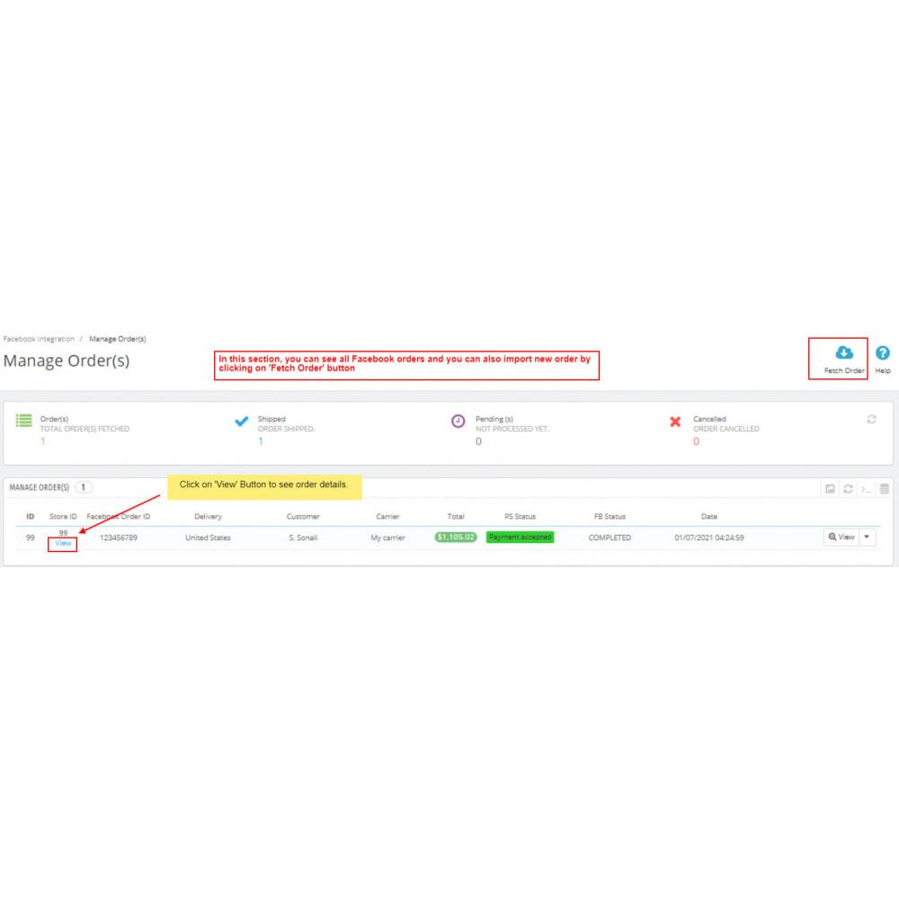 module - Marketplaces - Facebook Integration - 8