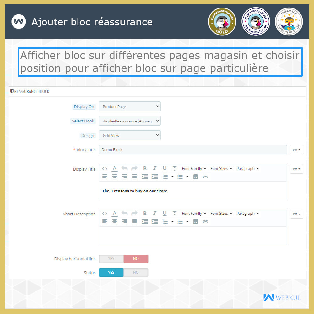 module - Blocs, Onglets & Bannières - Bloc de réassurance avancé - 4
