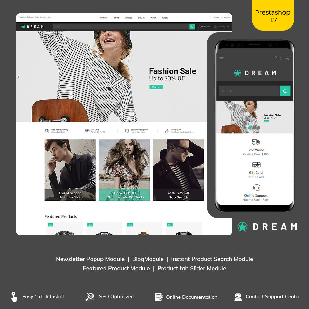 theme - Fashion & Shoes - Dream Fashion - Designer Cloth Black Store - 1
