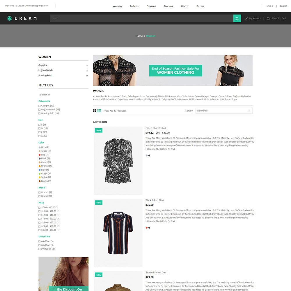 theme - Fashion & Shoes - Dream Fashion - Designer Cloth Black Store - 4