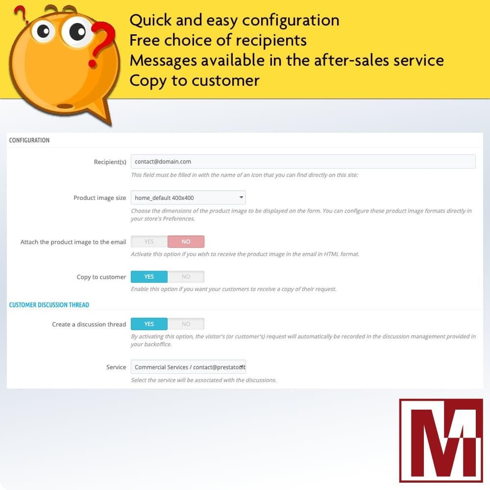 module - Contactformulier & Enquêtes - Dynamic contact form on product page - 2