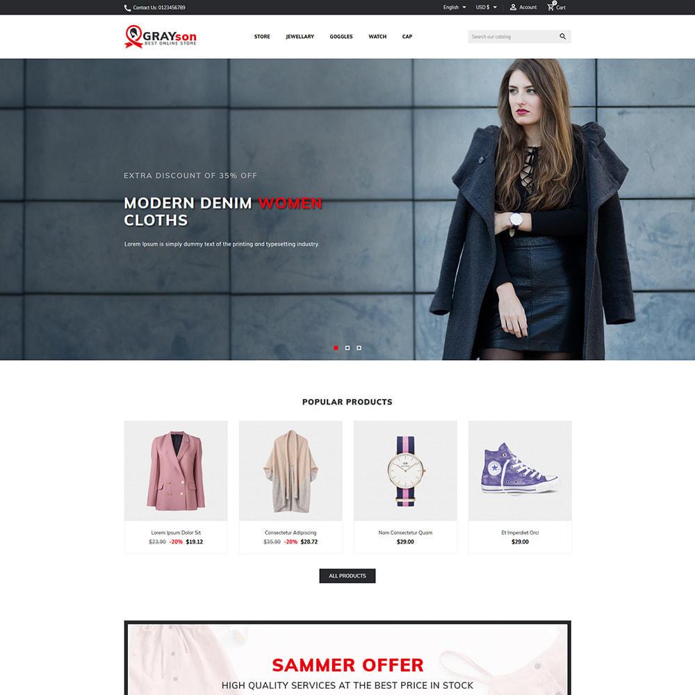 theme - Fashion & Shoes - Grayson Minimal Store - 1