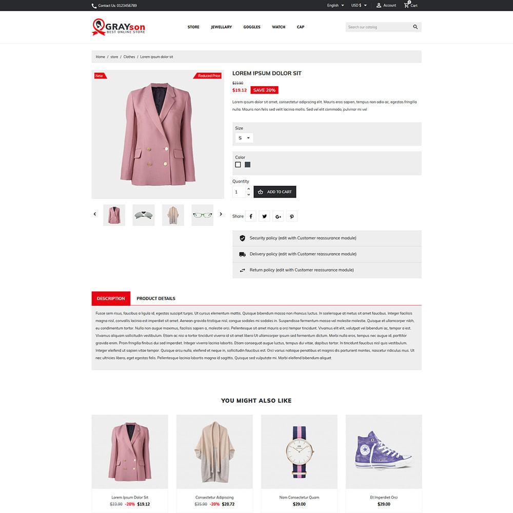 theme - Fashion & Shoes - Grayson Minimal Store - 4