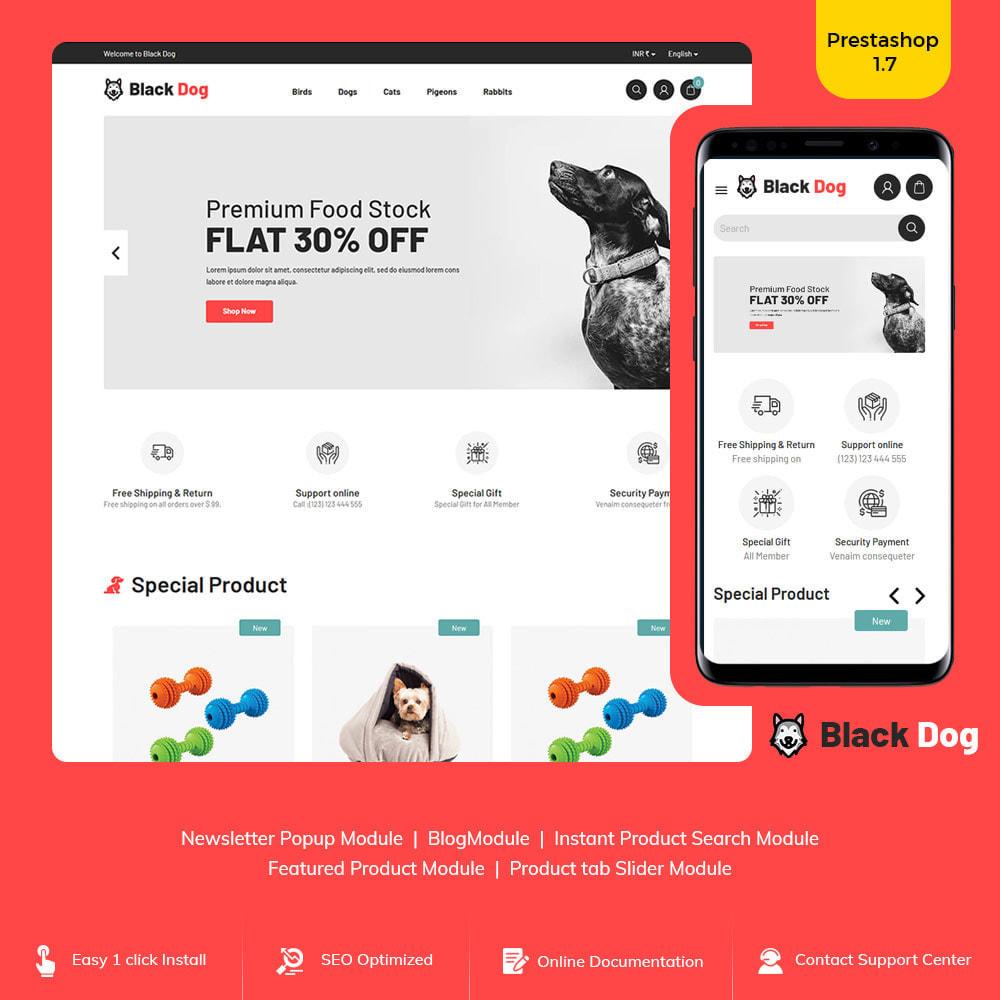 theme - Animals & Pets - Black Dog - Bird Pet Animal Food  Store - 1
