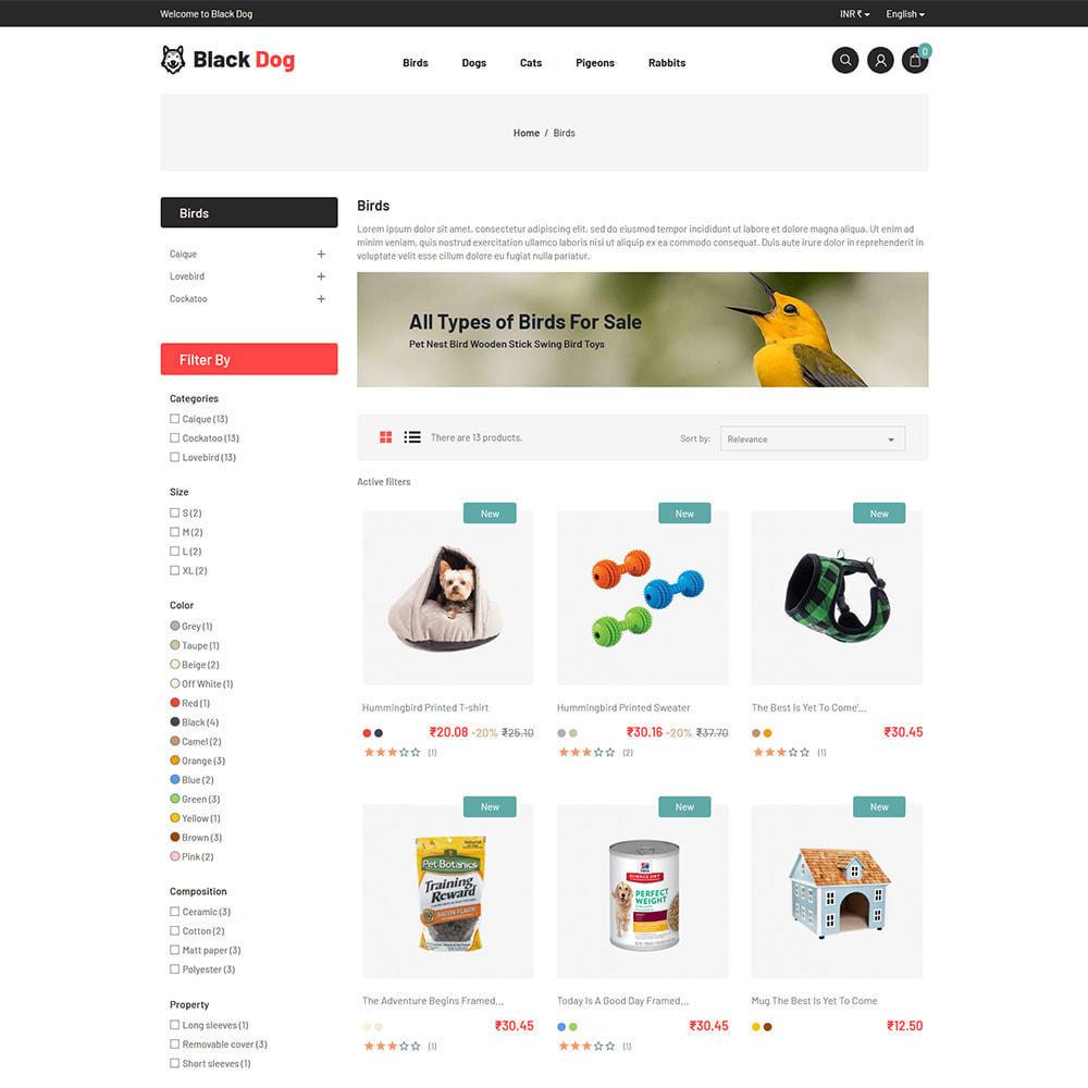 theme - Animals & Pets - Black Dog - Bird Pet Animal Food  Store - 3