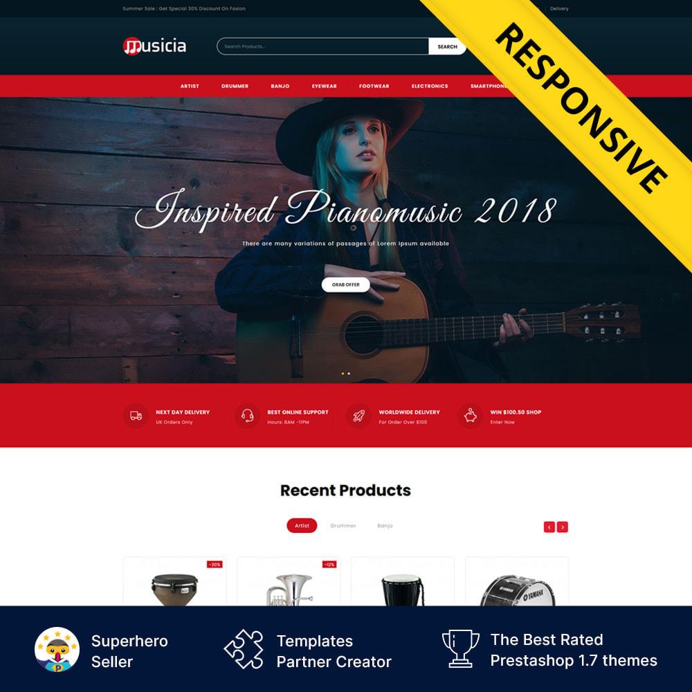 theme - Desporto, Actividades & Viagens - Musicia - Music Instrument Store - 1