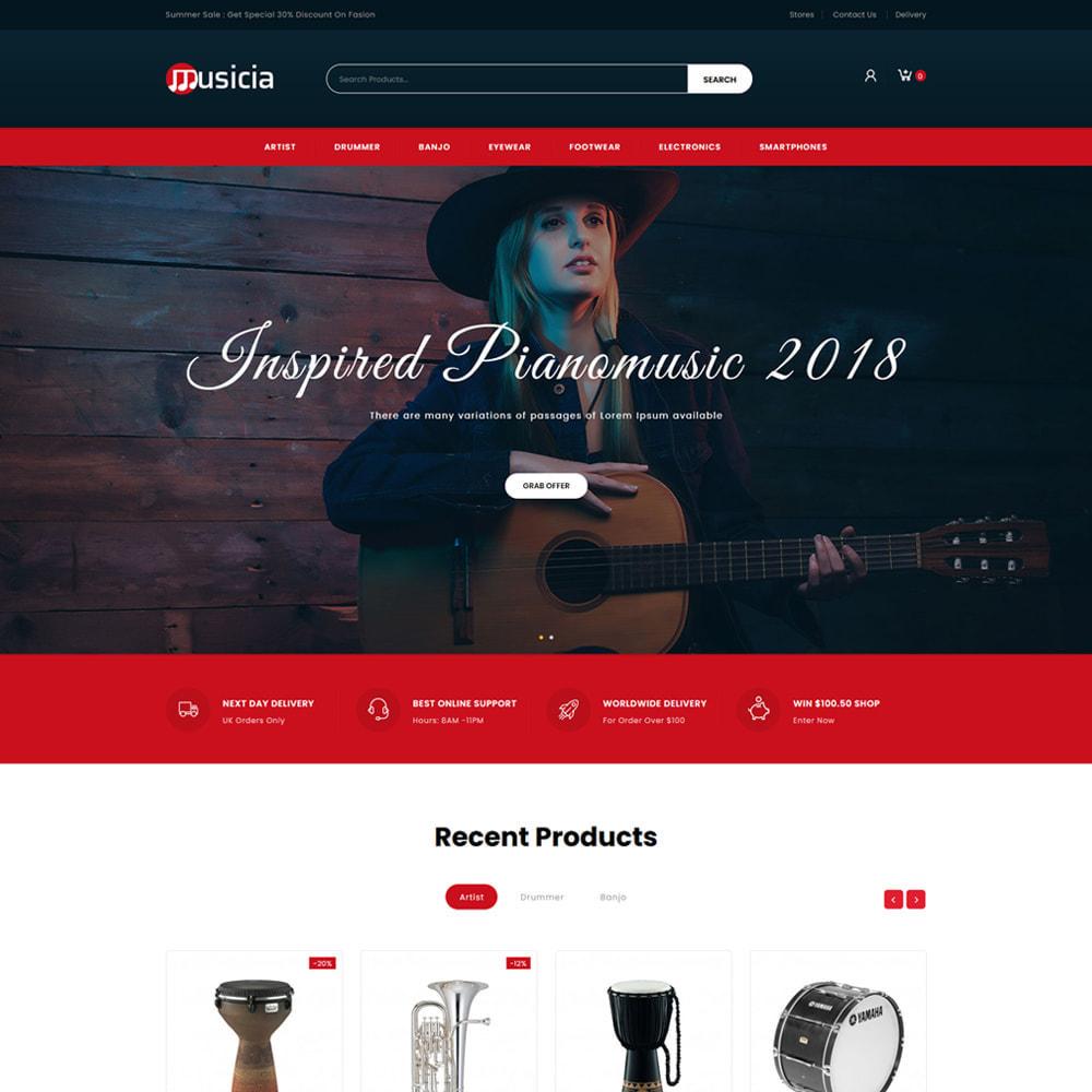 theme - Desporto, Actividades & Viagens - Musicia - Music Instrument Store - 2