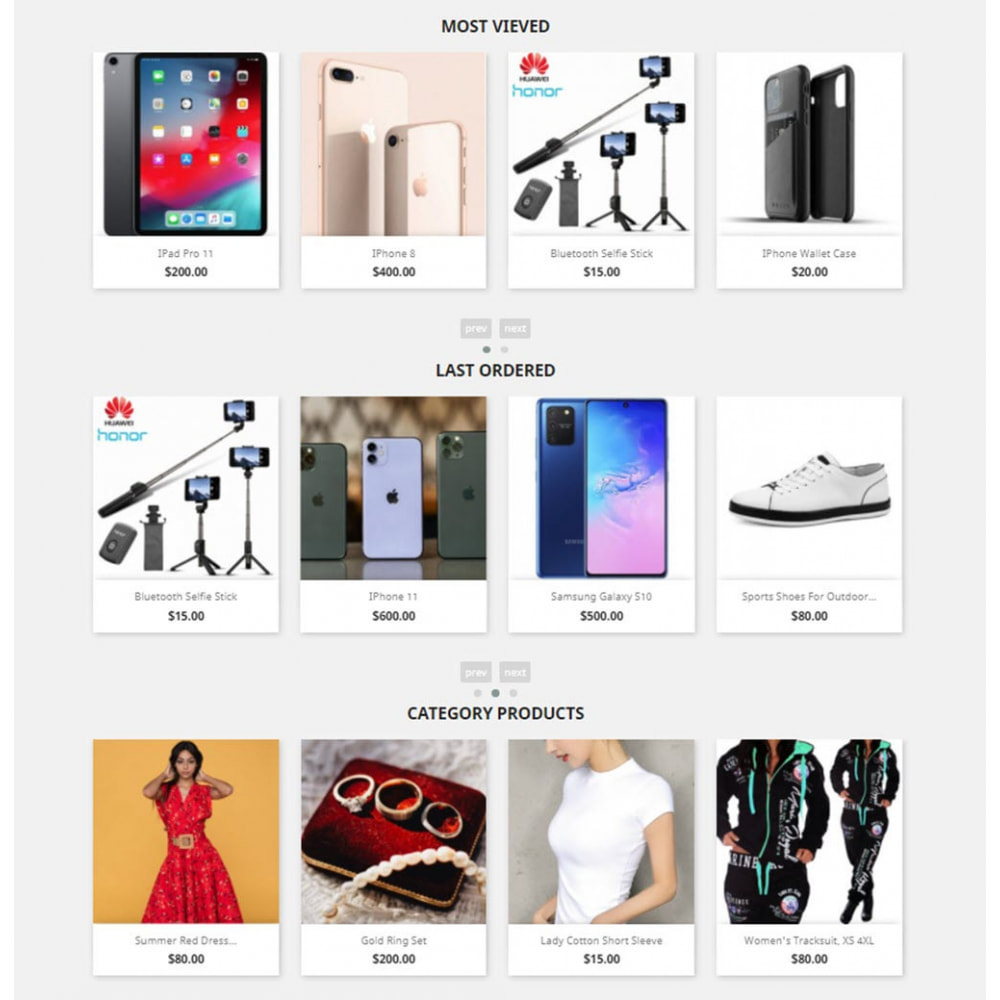 module - Sliders y Galerías de imágenes - Carousels Pack - Instagram, Products, Brands, Supplier - 2