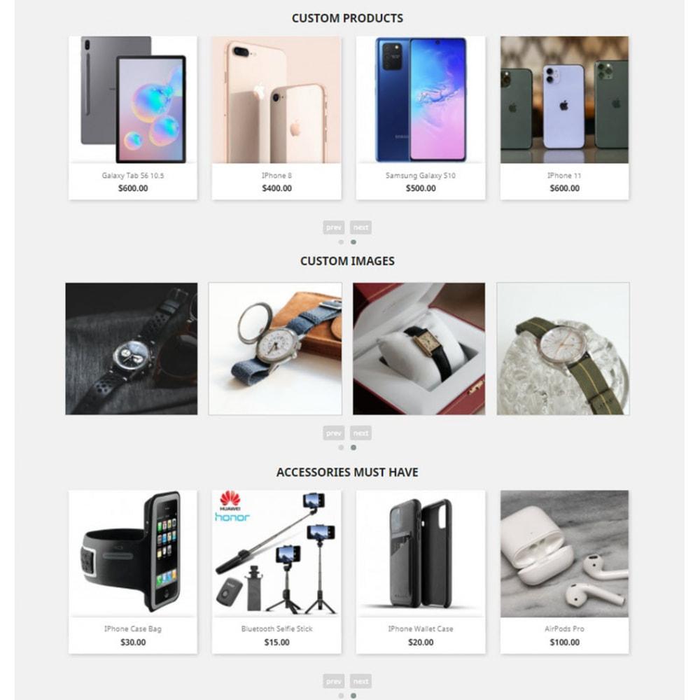 module - Sliders y Galerías de imágenes - Carousels Pack - Instagram, Products, Brands, Supplier - 5